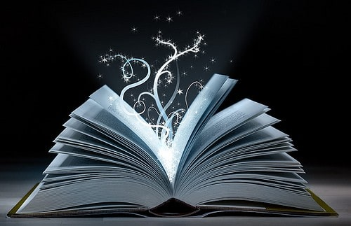 book with white decoration